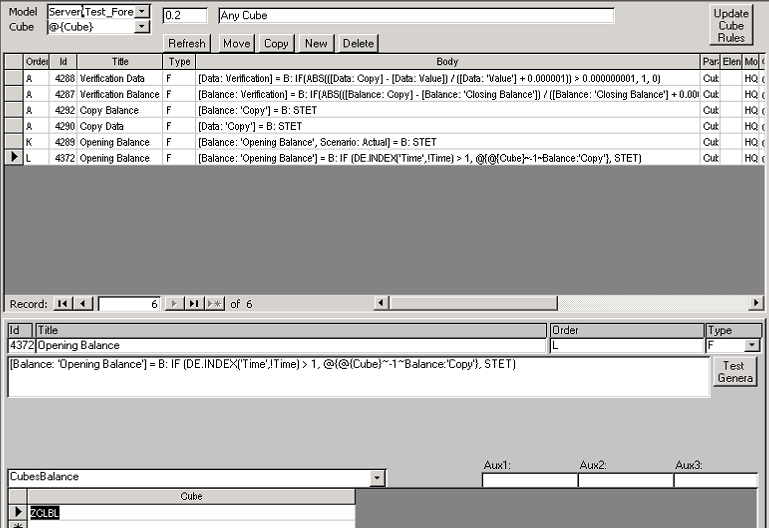Cipher Infor Rules Calculation Editor